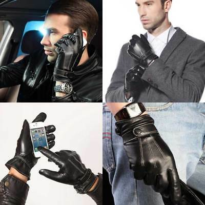 Men's Leather Touch Screen Texting Gloves Cycling Driving Riding Winter Thermal