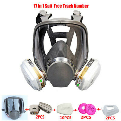 17 In 1 Spray Painting pesticide Same For 3M 6800 Gas Mask Full Face Respirator