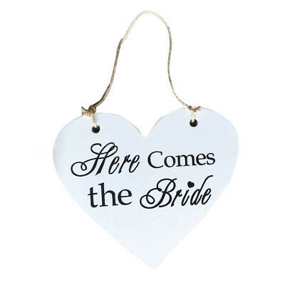 Here Comes the Bride Wood Board Love Heart Wedding Name Place Names Price Signs