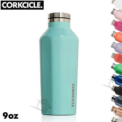 NEW Corkcicle Canteen 9oz (265ml) Triple Insulated Drink Bottle Cold Hot S/Steel
