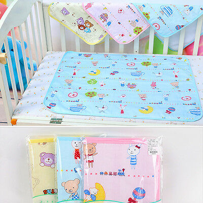 Good Waterproof Infant Baby Diaper Pad Cotton Washable Urine Mat Nappy Bed UK