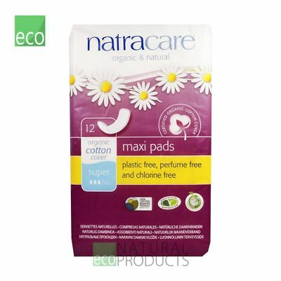 Natracare Organic Cotton Ultra Maxi Pads 12 Super