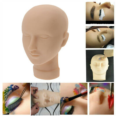 Soft Silicone Massage Training Eyelash Makeup Practice Mannequin Head Doll