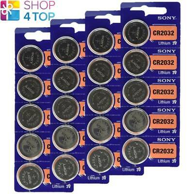 20 Sony Cr2032 Lithium Batteries 3V Coin Cell Dl2032 Exp 2028 New