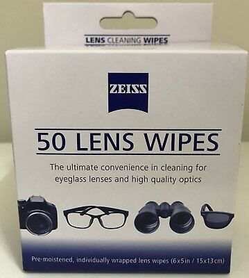 Zeiss Lens Cleaning Pre-moistened Wipes (60 pieces in box) (alcohol free)
