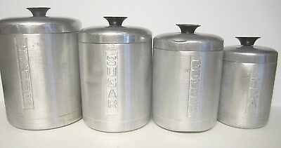 Vintage 4 HELLER HOSTESS WARE CANISTER SET made in Italy