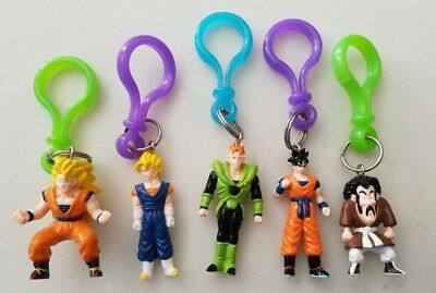 Set of 5 Dragonball Z collectible keychains excellent condition DBZ