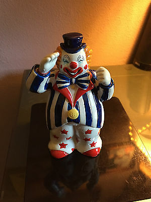 Vintage George B-Good  Patriotic Saluting Clown