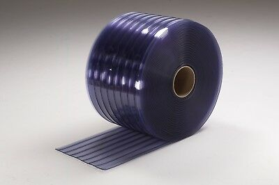 PVC-Vinyl-Strip-Door-Material-Bulk-Roll-12-Standard Cooler-Ribbed-x-150ft-roll