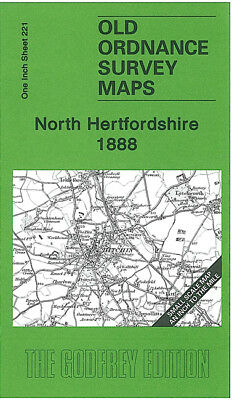 Old Ordnance Survey Map North Hertfordshire 1888 Baldock Hitchin Letchworth