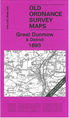 Old Ordnance Survey Map Great Dunmow 1893 Bishops Stortford Stansted Thaxted