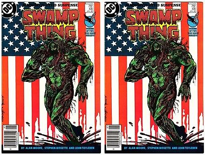 """Swamp Thing #44 (JAN 86, DC) TWO NM COPIES """"Winner of Two 1984 Eagle Awards"""""""