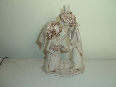Vintage Dino BENCINI sculpture of a Bride and Groom  from Italy  Signed