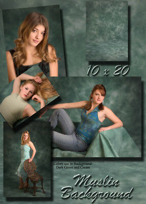 Clearance 10x20 FT MUSLIN  TIE-DYED PHOTOGRAPHY BACKDROP FLOOR SAMPLE SALE ZW025