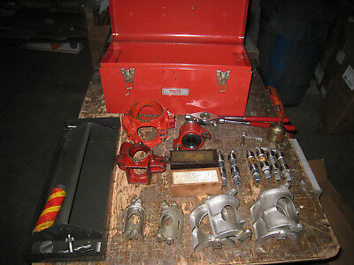 Pipemaster Erie Tool Tee-Turner Set With Box Full Of Extras