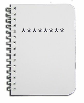 Journal Password Organizer Book Keeper Durable Thick Translucent Cover 125 Pages