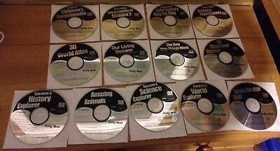 13 x DAILY MAIL CDs Job Lot Bundle Disks Discs Software Computers Laptops PCs DM
