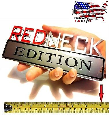 REDNECK EDITION car truck TOYOTA Door EMBLEM logo decal SUV SIGN chrome RED NECK