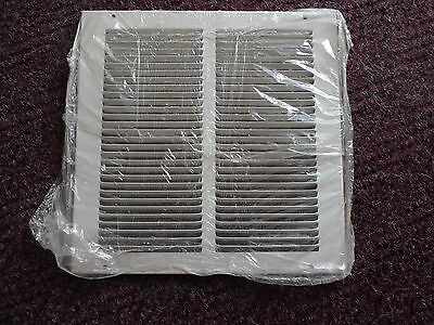 "NEW 650 Series HART & COOLEY 10"" x 10"" RETURN AIR GRILLE WHITE STEEL 043111"