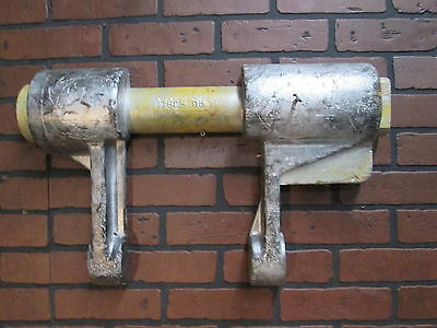 """Vintage Industrial Wooden Foundry Mold Early 1900's 24"""" by 15"""" Tin Tag"""