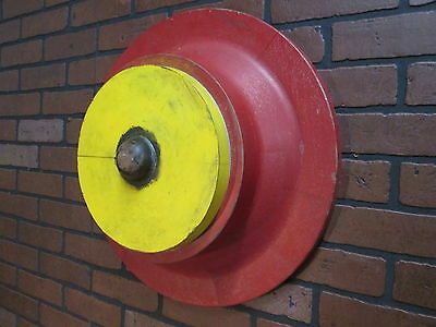 """Vintage Industrial Wooden Foundry  Mold 20"""" Diameter by 7"""" Deep Early 1900's"""