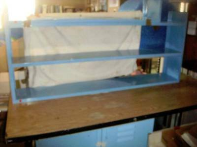 Our #4 Used Nevin Steel Shelving 61 In. Long - Two High With Top For Shelf - New