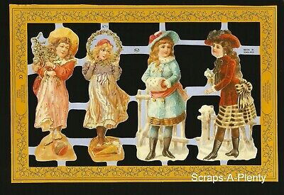 Mamelok Embossed English Scrap Die Cut- Precious Children (Archives Coll.) A73