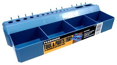 Hanging Pegboard Bin Tool Parts Tray Home Storage Organizer Shelf Plastic Blue