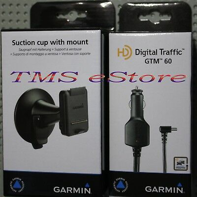 Garmin Suction Cup Mount Kit w/Traffic Receiver for Dezl 760LMT 770LMTHD Trucker