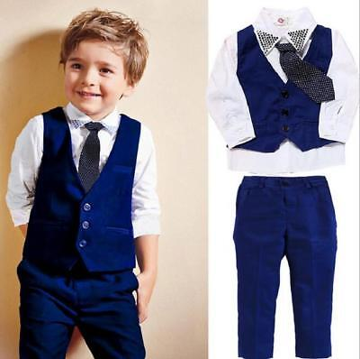 18b1bae3d4c7 MY MINI GENT Boys 4PC Solid Black Vest Suit Set Many Colors Vest ...