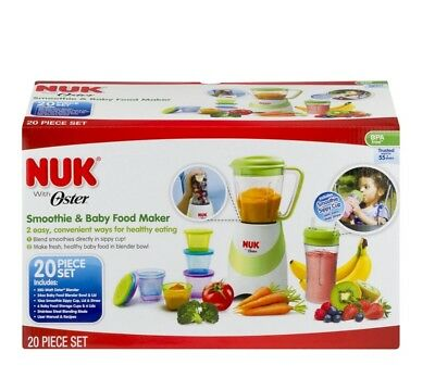 NUK 20 Piece Set Smoothie and Baby Food Maker with Oster
