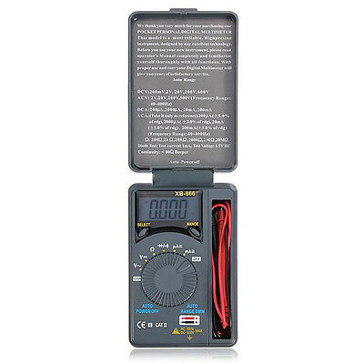Mini LCD Auto Range AC / DC Pocket multimetro digitale voltmetro tester del E3N3
