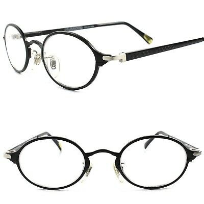 True Vintage Classic Mens Womens Clear Lens Oval Round Eye Glasses Black Frame