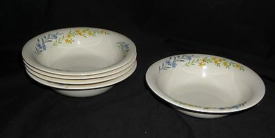 "5 Homer Laughlin SWING EGGSHELL BLUE FLAX *6 1/2"" CEREAL BOWLS*"