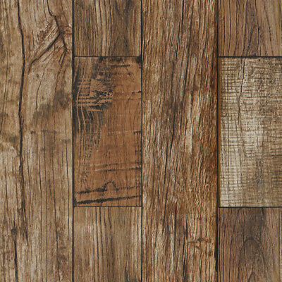 Natural Wood Grain Vintage Textured Decal Rustic Wallpaper Roll Home Decor 10M