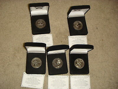 Set of 5 Disney Movie Rewards Magical Places Coins Mickey Mouse, Tinker Bell COA