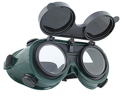 Flip-Up Front Welding Goggles Eye Cups, Oxy-Acetylene Shade Lens Safety Glasses