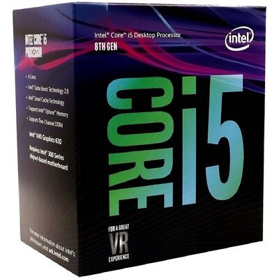Intel Core i5-8400 Processor 6 Core (9M Cache, up to 2.80 GHz), LGA1151