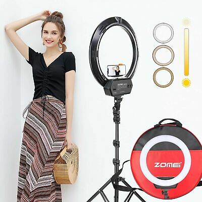 "18"" SMD LED Ring Light Dimmable 5500K Continuous Lighting makeup Photo Video Kit"
