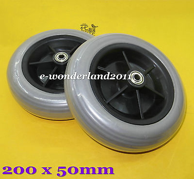 2 x Power Wheelchair Rear Caster Tires 200x50mm  for Pride Jazzy / Jet Electric
