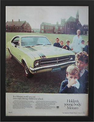 """1970 HG HOLDEN PREMIER AD A3 FRAMED PHOTOGRAPHIC PRINT 15.7""""x11.8"""""""