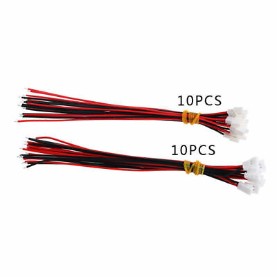 10Pairs DIY JST DS LOSI 2.0MM 2 Pin Connector Plug Male Female With Wire 150MM
