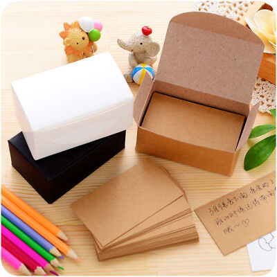 20/100Pcs Blank Kraft Paper Hang Tags Wedding Party Favor Label Price Gift Cards