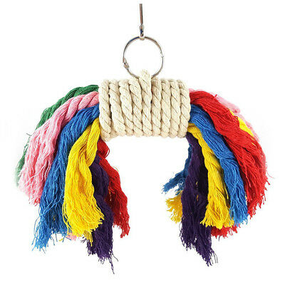 Parrot Colorful Rope Toy - Perfect Bird Cage Toy for Playing and Preening F X3H6