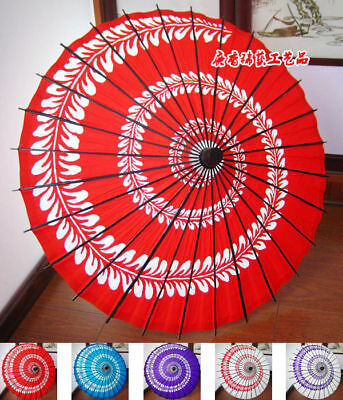 Oiled Paper Cherry Blossom Umbrella Sun Dance Wedding Art Decor Parasol Prop Cos