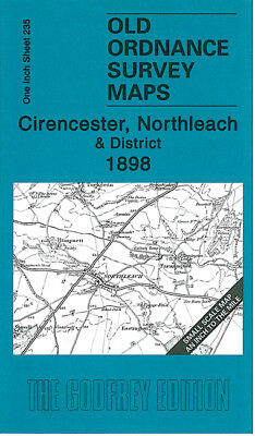 Old Ordnance Survey Map Cirencester Northleach 1898 Fairford Dowdeswell Stratton