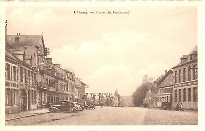 carte postale - Chimay - CPA - Place du Faubourg