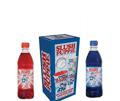 Slush Puppie ® - Choose from Blue Raspberry or Red Cherry Syrup or Cups & Straws