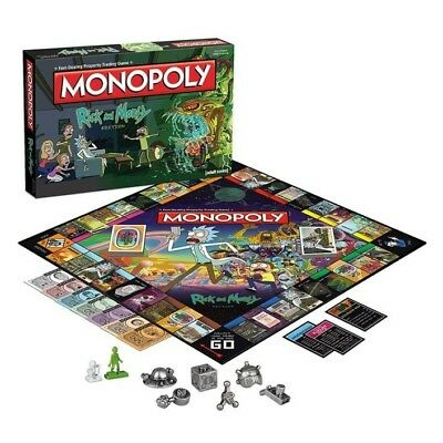 Rick and Morty Monopoly New In Stock Free Shipping