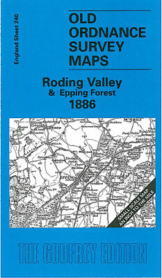Old Ordnance Survey Map Roding Valley Epping Forest 1886 Harlow Writtle Nazeing